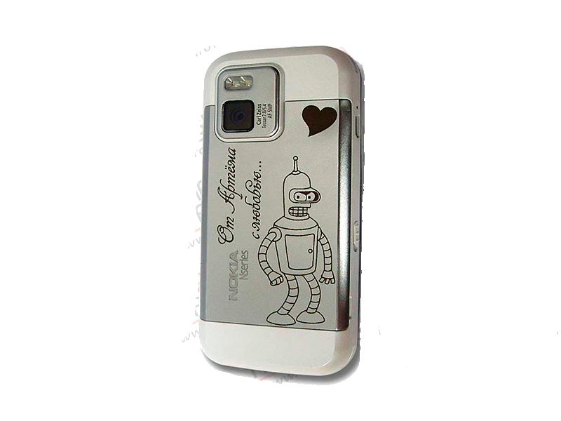 лазерная гравировка на смартфоне